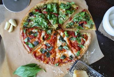 Pizza achteln Pizzaschneider